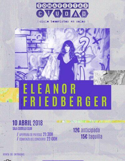 Cartel concierto Eleanor Friedberger en Tomavistas Ciudad