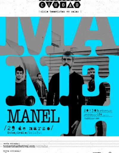 Cartel concierto Manel en Tomavistas Ciudad
