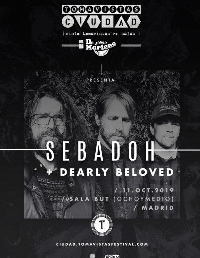 Cartel concierto Sebadoh y Dearly Beloved en Ochoymedio Tomavistas Ciudad